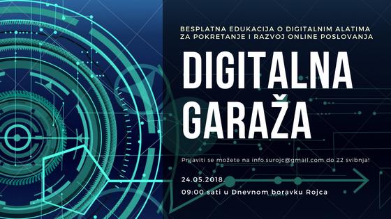 Poziv na interaktivnu radionicu Digitalna garaža