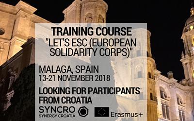 Želiš znati više o Europskim snagama solidarnosti? Prijavi se na ovaj trening!
