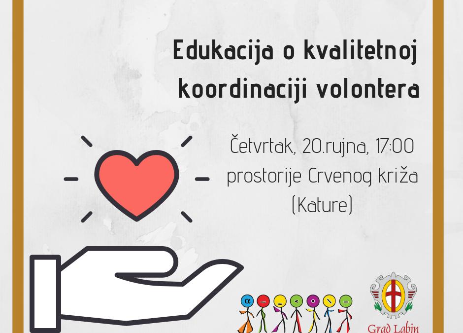 Poziv na edukaciju o kvalitetnom vođenju volonterskih sati