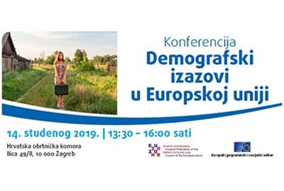 """Poziv na konferenciju """"Demografski izazovi u Europskoj uniji"""""""