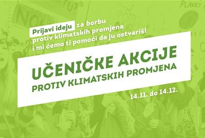 Učeničkim akcijama protiv klimatskih promjena!