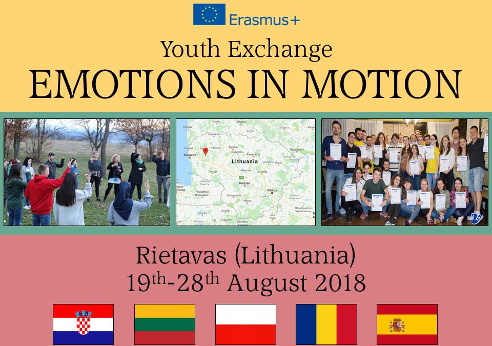 Razmjena mladih Emotions in motion u Litvi