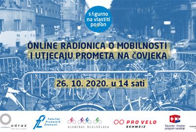 Prijavi se na online radionicu o mobilnosti i utjecaju prometa na čovjeka
