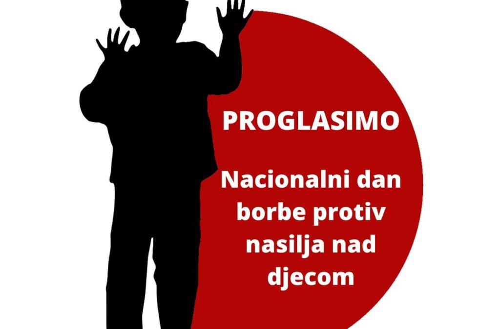 Potpišite peticiju za proglašavanje Nacionalnog dana borbe protiv nasilja nad djecom